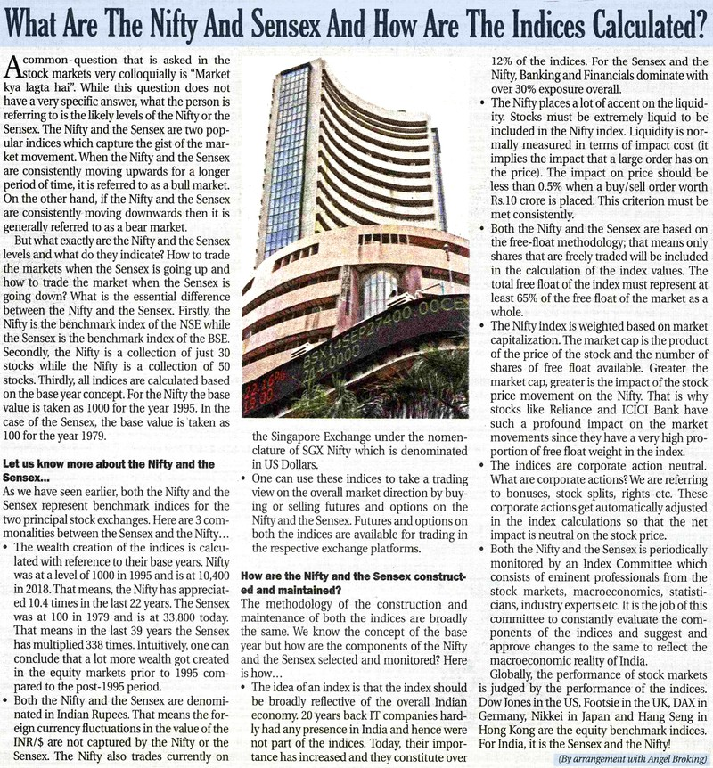 What Are The Nifty And Sensex And How Are The Indices Calculated?