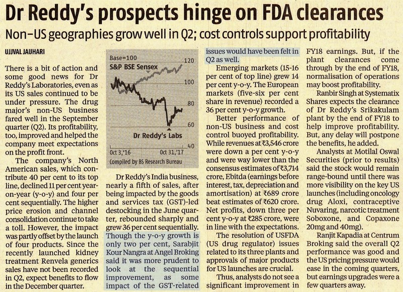 Dr Reddy's prospects hinge on FDA clearances