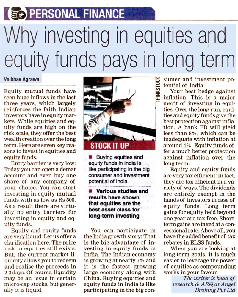Why investing in equities and equity funds pays in long term