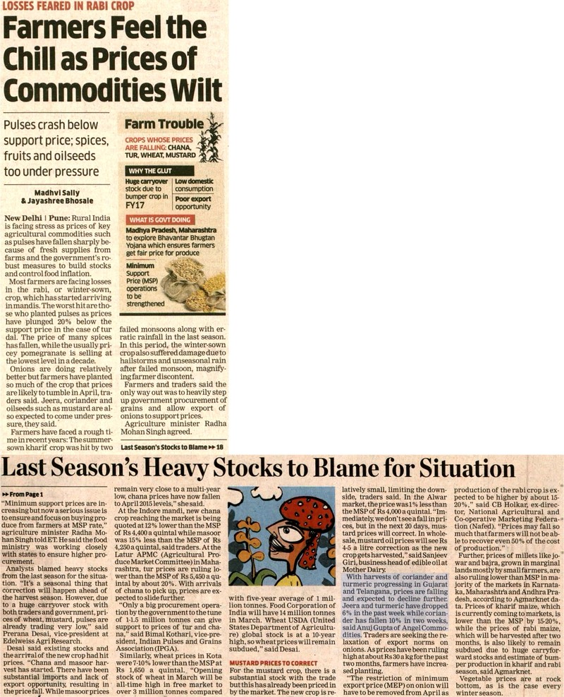 Farmers Feel the Chill as Prices of Commodities Wilt