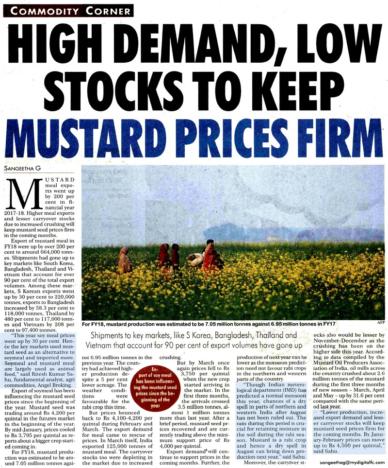 High Demand, Low Stocks To Keep Mustard Prices Firm