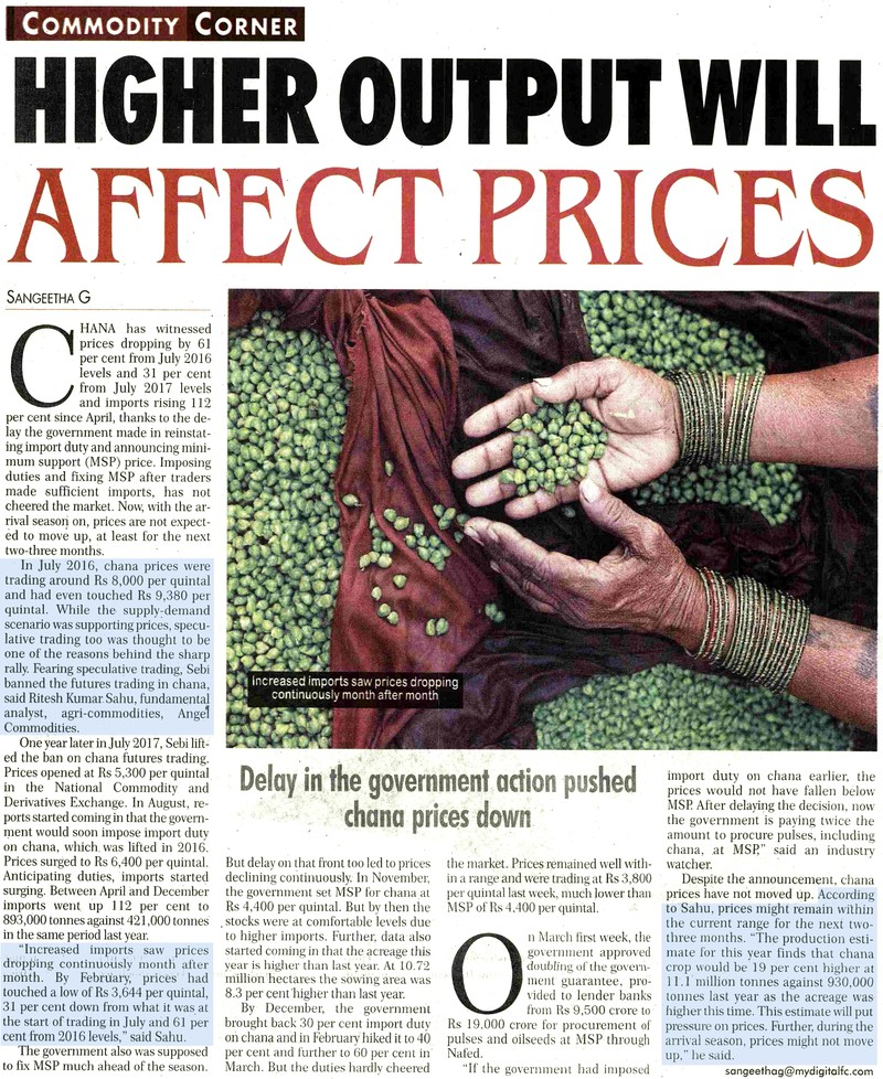 Higher Output Will Affect Prices