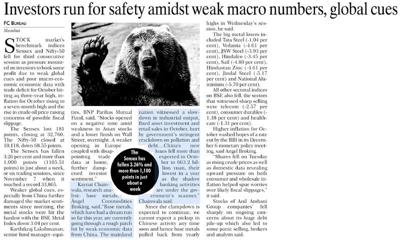 Investors run for safety amidst weak macro numbers, global cues