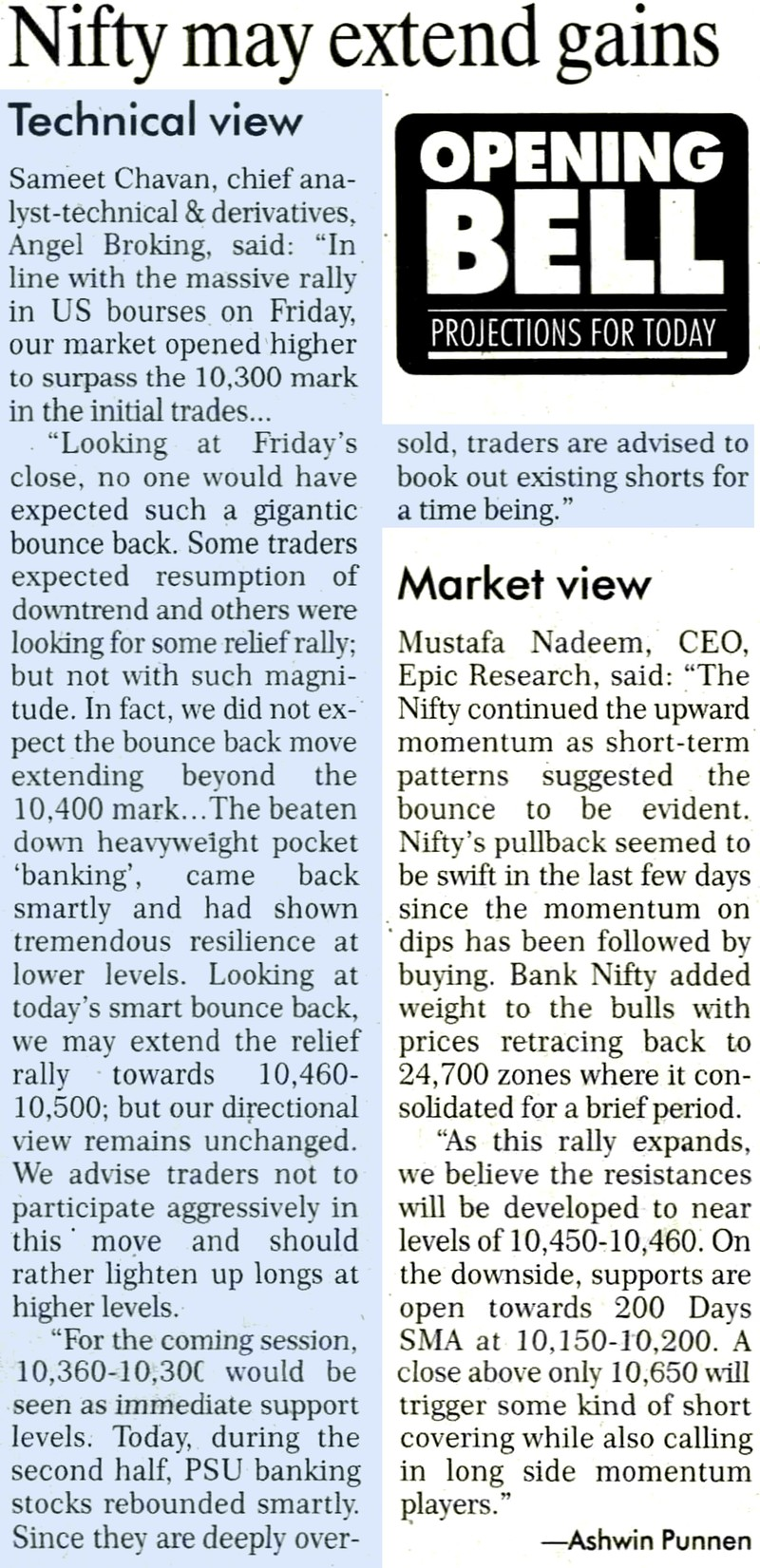 Nifty may extend gains