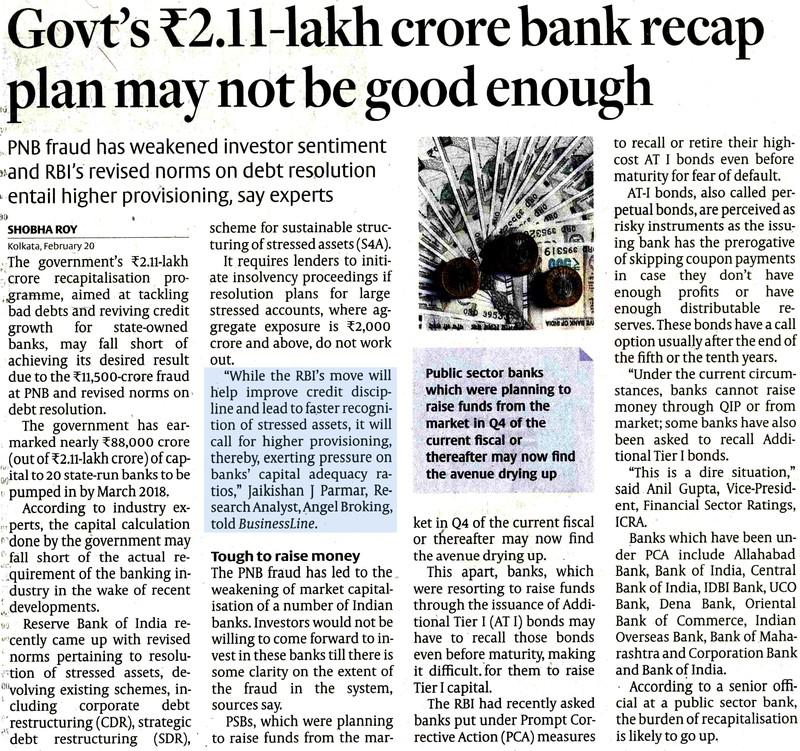Govt's Rs 2.11-lakh crore bank recap plan may not be good enough