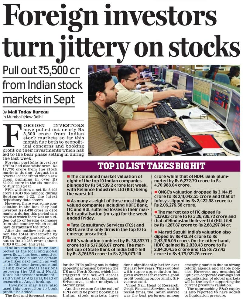 Foreign investors turn jittery on stocks