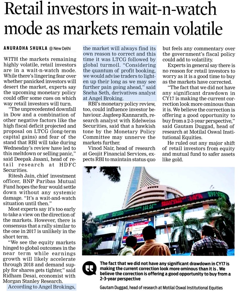 Retail investors in wait-n-watch mode as markets remain volatile