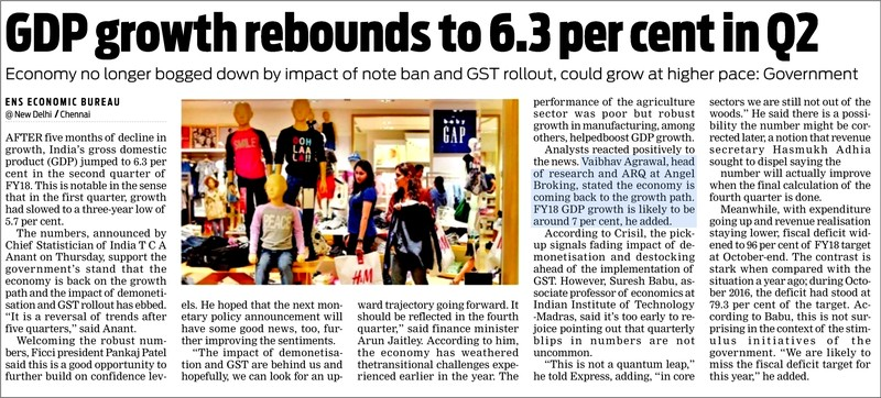 GDP growth rebounds to 6.3 per cent in Q2